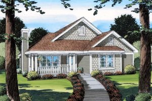 Cottage Exterior - Front Elevation Plan #312-736
