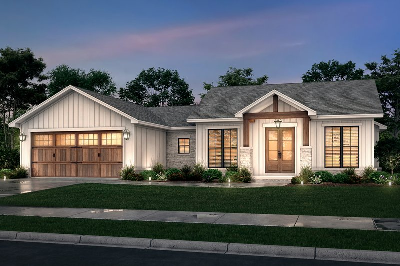 House Plan Design - Farmhouse Exterior - Front Elevation Plan #430-246