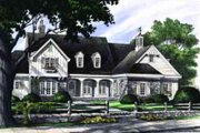 Southern Style House Plan - 4 Beds 4 Baths 3549 Sq/Ft Plan #137-202 Exterior - Other Elevation