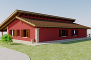 Contemporary Style House Plan - 3 Beds 2 Baths 5464 Sq/Ft Plan #542-12 Exterior - Rear Elevation
