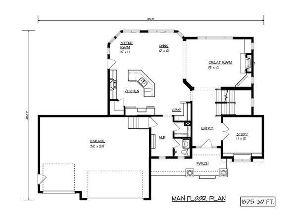 European Floor Plan - Main Floor Plan Plan #320-502