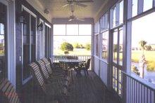 Beach Exterior - Covered Porch Plan #1054-68