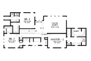 Craftsman Style House Plan - 4 Beds 3.5 Baths 3504 Sq/Ft Plan #48-1007 Floor Plan - Upper Floor Plan