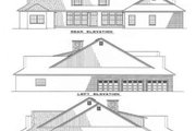 Traditional Style House Plan - 5 Beds 3 Baths 4094 Sq/Ft Plan #17-244 Exterior - Rear Elevation