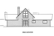 Home Plan - Contemporary Exterior - Rear Elevation Plan #92-201