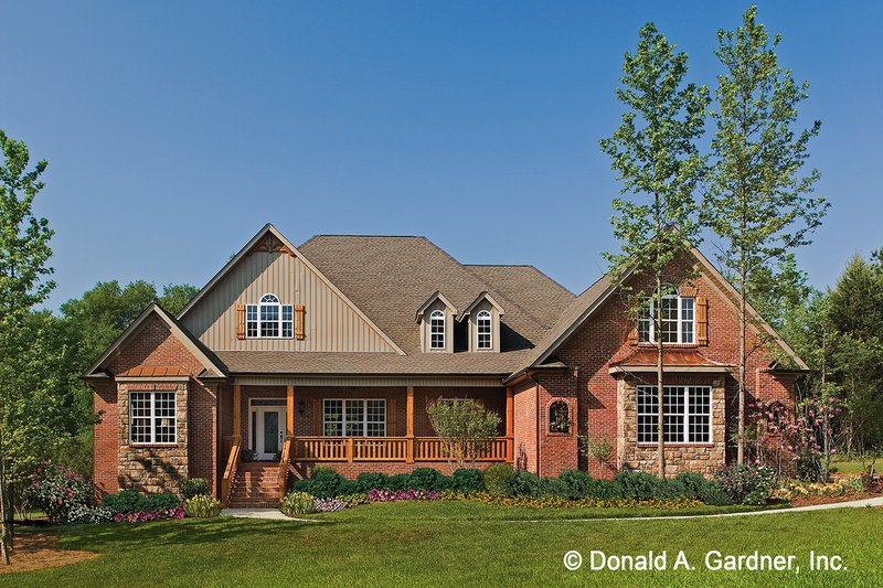 Architectural House Design - Traditional Exterior - Front Elevation Plan #929-778