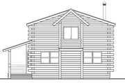 Cabin Style House Plan - 3 Beds 2 Baths 1835 Sq/Ft Plan #124-263 Exterior - Rear Elevation