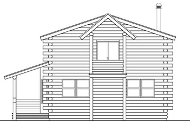 Cabin Exterior - Rear Elevation Plan #124-263 - Houseplans.com