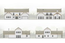 Dream House Plan - Farmhouse Exterior - Other Elevation Plan #924-5