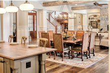 House Design - Country Interior - Dining Room Plan #928-1