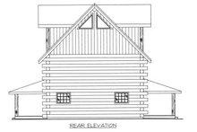 Log Exterior - Rear Elevation Plan #117-413