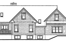 Home Plan - European Exterior - Rear Elevation Plan #23-2027
