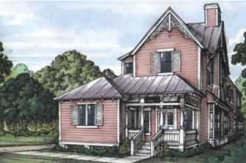 Victorian Style House Plan - 3 Beds 3.5 Baths 1555 Sq/Ft Plan #115-128
