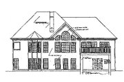 Traditional Style House Plan - 3 Beds 2.5 Baths 2067 Sq/Ft Plan #129-126 Exterior - Rear Elevation