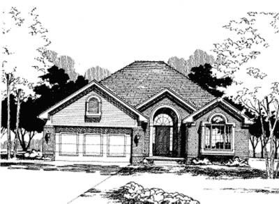 Traditional Exterior - Front Elevation Plan #20-468