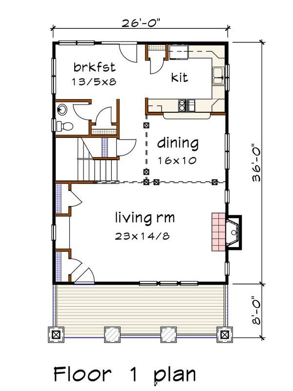 Dream House Plan - Craftsman Floor Plan - Main Floor Plan #79-266