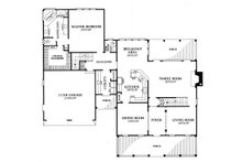 Southern Floor Plan - Main Floor Plan Plan #137-275