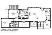 Traditional Style House Plan - 4 Beds 5 Baths 4551 Sq/Ft Plan #921-5 Floor Plan - Lower Floor