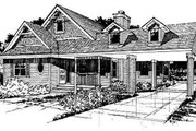 Country Style House Plan - 3 Beds 2 Baths 1631 Sq/Ft Plan #50-228 Exterior - Front Elevation