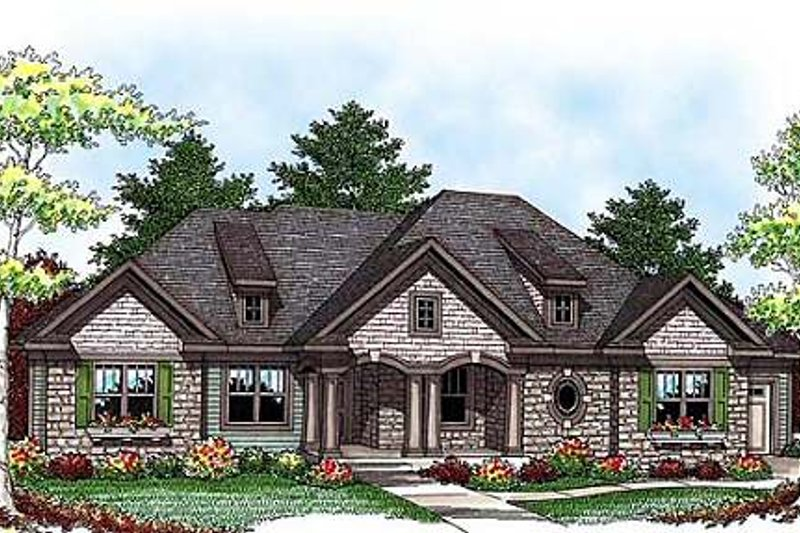 Craftsman Exterior - Front Elevation Plan #70-920