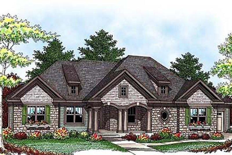 Craftsman Exterior - Front Elevation Plan #70-920 - Houseplans.com