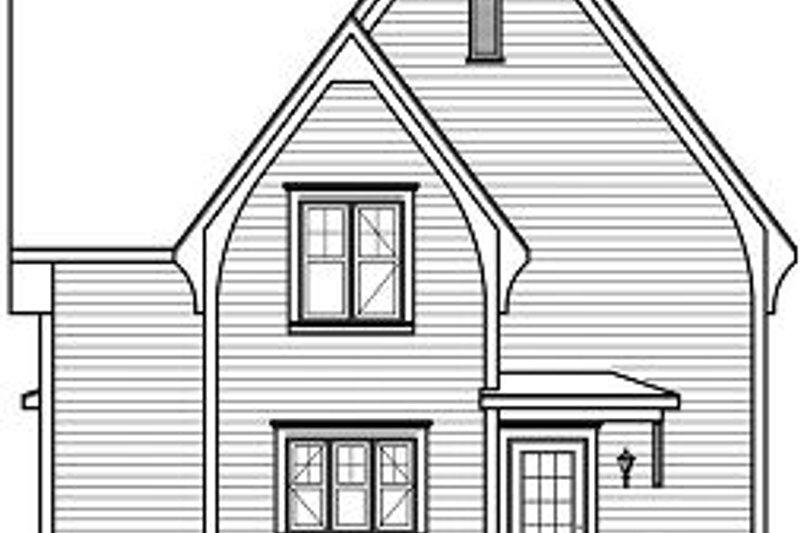 Traditional Exterior - Rear Elevation Plan #23-821 - Houseplans.com