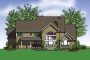 Country Style House Plan - 5 Beds 4.5 Baths 4574 Sq/Ft Plan #48-619 Exterior - Rear Elevation