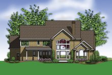 Dream House Plan - Country Exterior - Rear Elevation Plan #48-619