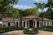 Mediterranean Style House Plan - 3 Beds 2.5 Baths 2565 Sq/Ft Plan #420-272 Exterior - Front Elevation