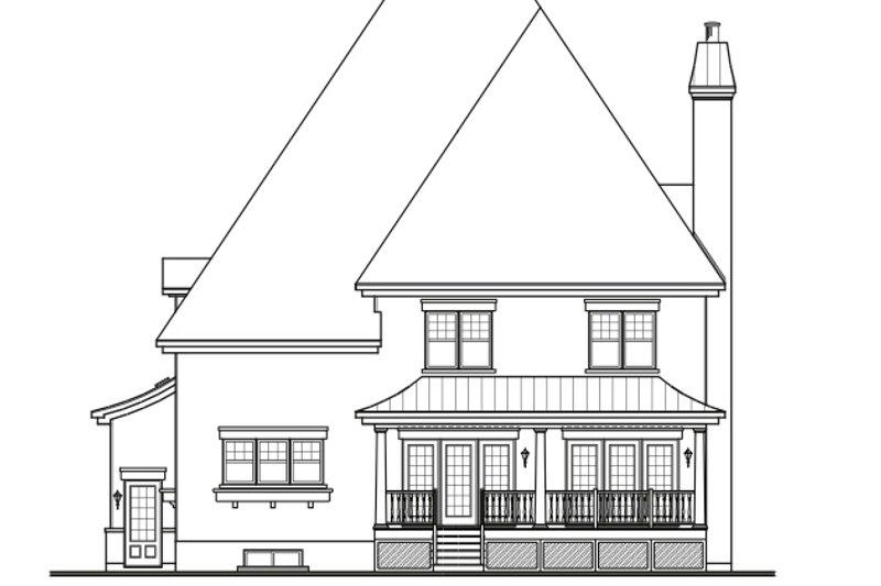 European Exterior - Rear Elevation Plan #23-657 - Houseplans.com