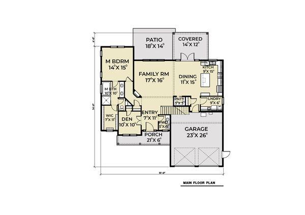 Home Plan - Craftsman Floor Plan - Main Floor Plan #1070-70
