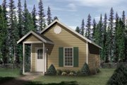 Cottage Style House Plan - 1 Beds 1 Baths 448 Sq/Ft Plan #22-126 Exterior - Front Elevation
