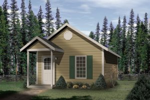 Cottage Exterior - Front Elevation Plan #22-126