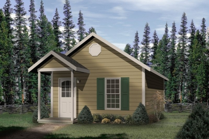 Cottage Exterior - Front Elevation Plan #22-126