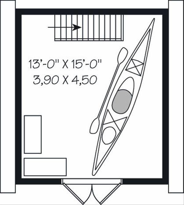 Traditional Floor Plan - Upper Floor Plan Plan #23-764