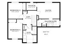 Traditional Floor Plan - Upper Floor Plan Plan #1060-4