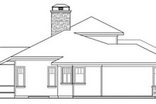 Prairie Exterior - Other Elevation Plan #124-821