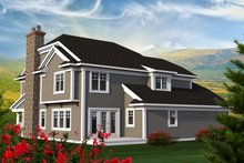 Dream House Plan - Traditional Exterior - Rear Elevation Plan #70-1199