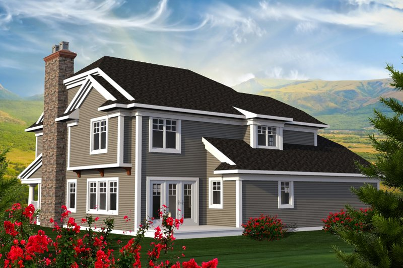 Traditional Exterior - Rear Elevation Plan #70-1199 - Houseplans.com