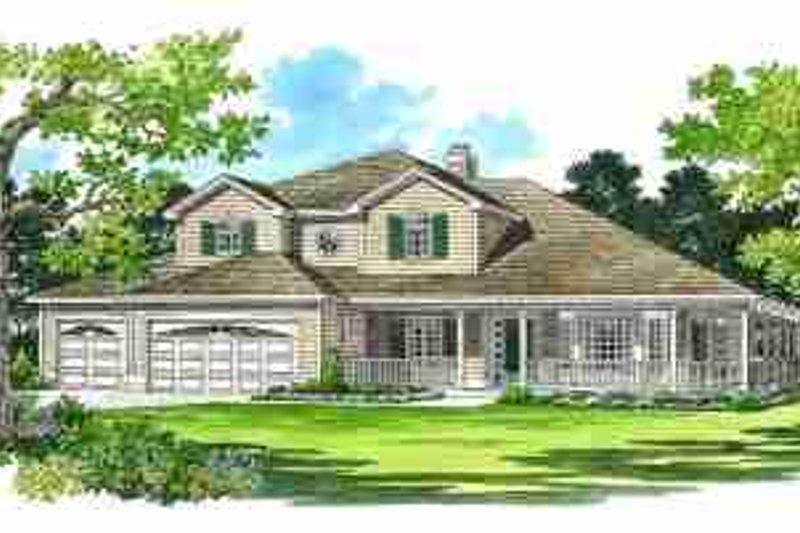 House Blueprint - Traditional Exterior - Front Elevation Plan #72-330