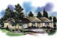 Ranch Exterior - Front Elevation Plan #18-121