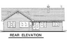 Traditional Exterior - Rear Elevation Plan #18-1032