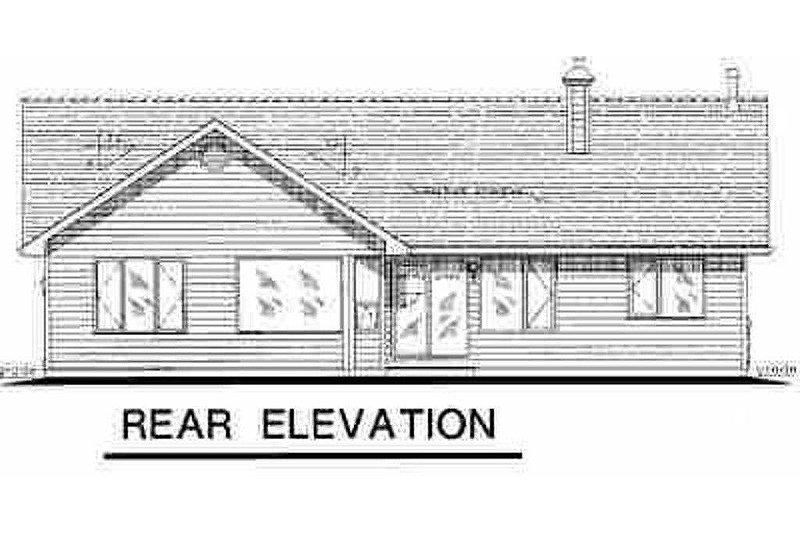 Traditional Exterior - Rear Elevation Plan #18-1032 - Houseplans.com
