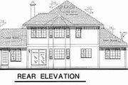 Tudor Style House Plan - 4 Beds 3 Baths 2431 Sq/Ft Plan #18-8972 Exterior - Rear Elevation