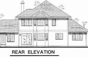 Tudor Style House Plan - 4 Beds 3 Baths 2431 Sq/Ft Plan #18-8972 Exterior - Rear Elevation