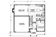 Craftsman Style House Plan - 4 Beds 2.5 Baths 2248 Sq/Ft Plan #53-451 Floor Plan - Main Floor Plan