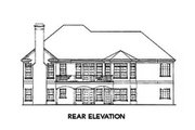 Traditional Style House Plan - 3 Beds 2.5 Baths 2077 Sq/Ft Plan #429-30 Exterior - Rear Elevation