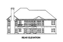 Dream House Plan - Traditional Exterior - Rear Elevation Plan #429-30
