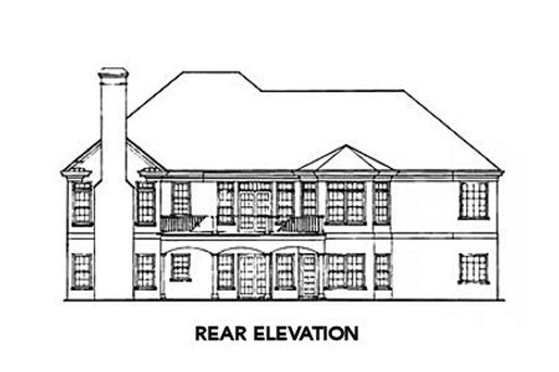 Traditional Exterior - Rear Elevation Plan #429-30 - Houseplans.com
