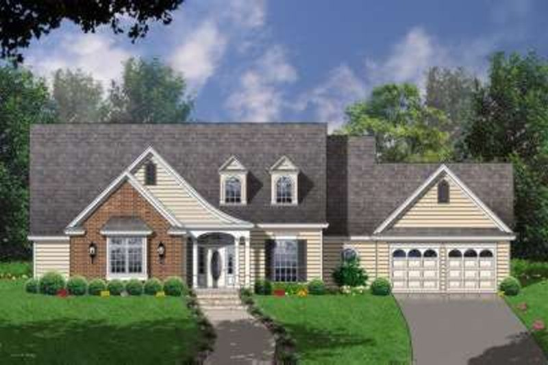 Traditional Exterior - Front Elevation Plan #40-150